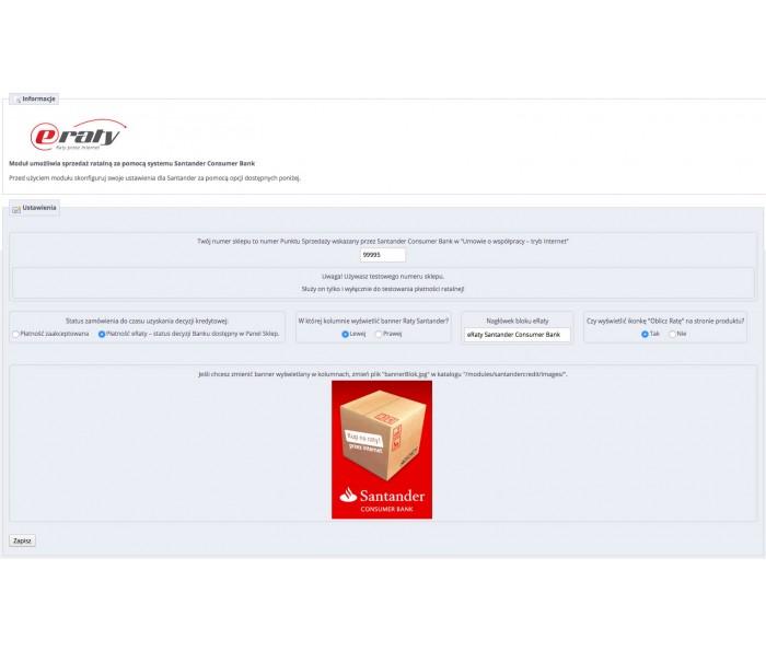 Moduł płatności ratalnych Santander - eRaty