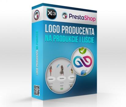 Logo producenta na produkcie i liście