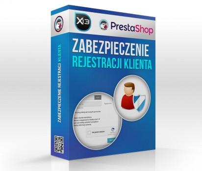 Zabezpieczenie rejestracji klientów - Blokada SPAMu