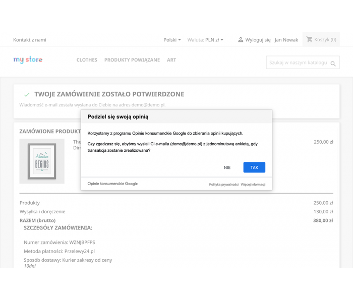 Opinie konsumenckie google