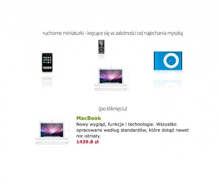 Polecane produkty na stronie głównej jako karuzela Flash