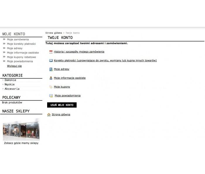 Usuwanie konta przez klienta w PrestaShop