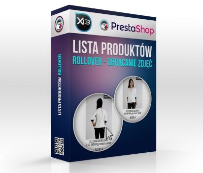 Lista Produktów - rollover