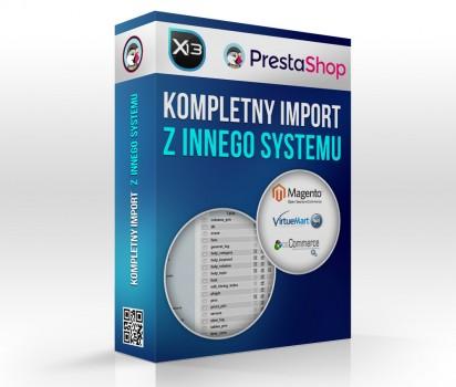 Import produktów / zamówień / klientów do PrestaShop