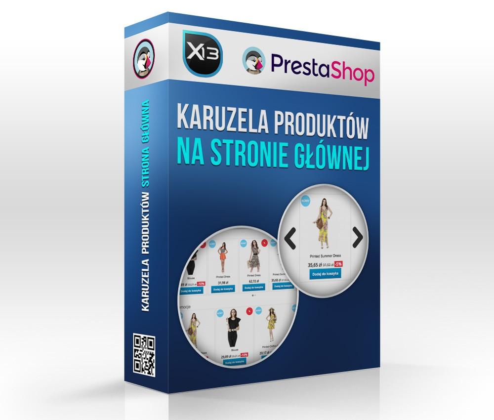 5ff0063e 🥇 Produkty na stronie głównej slider - karuzela - Nowości, Promocje,  Polecane, Bestsellery - X13 - dodatki do PrestaShop