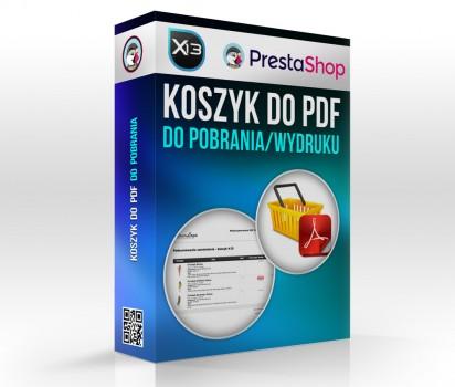 Zapisz koszyk - produkty do PDF