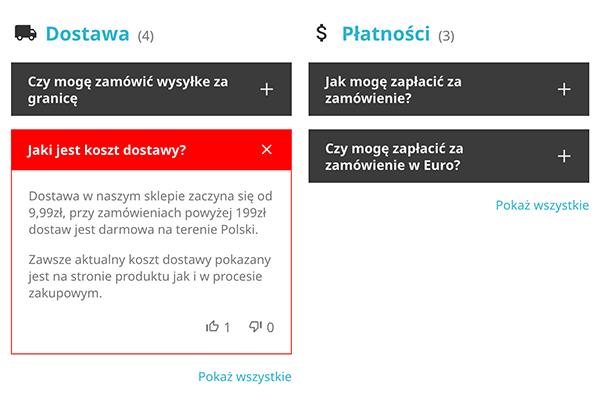 Moduł FAQ dla PrestaShop - Wygląd
